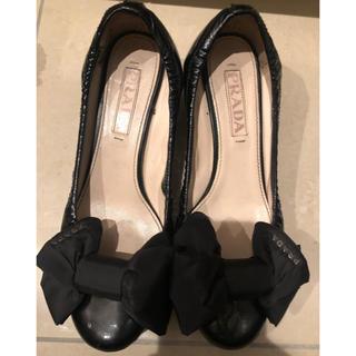 プラダ(PRADA)のPRADA リボン パンプス 靴 23.5 miumiu (ローファー/革靴)