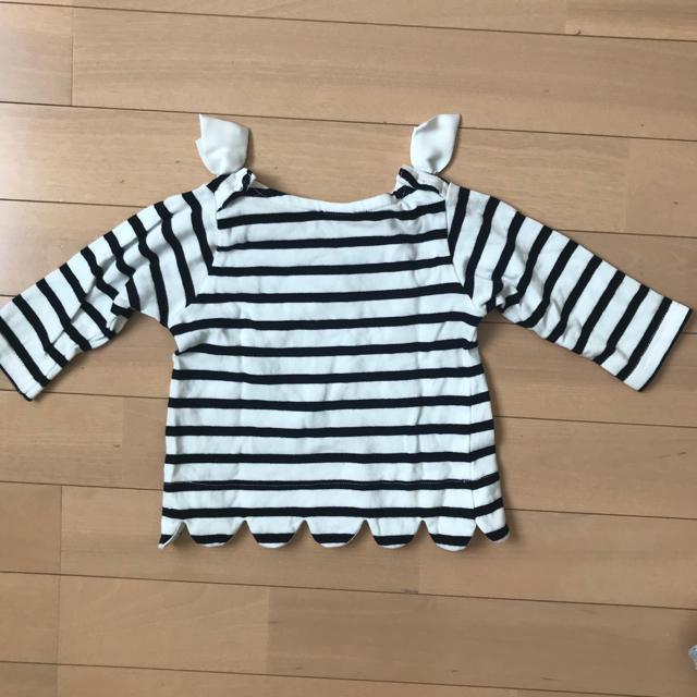 petit main(プティマイン)のプティマイン*ボーダートップス キッズ/ベビー/マタニティのベビー服(~85cm)(シャツ/カットソー)の商品写真