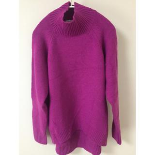 ハイネックゆったりセーター