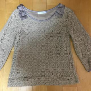 クチュールブローチ(Couture Brooch)のクチュールブローチ 36 ベージュリボン(ニット/セーター)