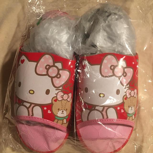 ハローキティ(ハローキティ)の新品未使用品 ハローキティー キティー サンダル トートバック 靴下 レディースのバッグ(トートバッグ)の商品写真