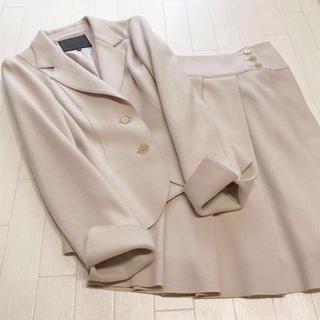 アンタイトル(UNTITLED)のアンタイトル  フェルトウール素材 スカートスーツ 2/1(スーツ)