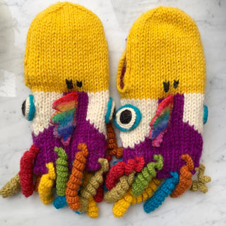 ビームスボーイ(BEAMS BOY)のAmina アミナ BIRD アニマルミトン バード 手袋 ミトン 鳥 大人用(手袋)