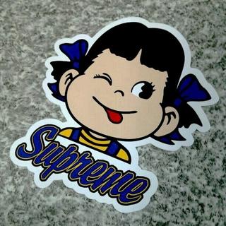 Supreme - 青ペコ【正規品】シュプリームステッカー ペコちゃんステッカー ヘザーロゴ