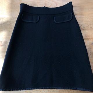 セオリー(theory)のセオリー、ニット黒のタイトスカート(ミニスカート)