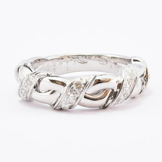CHAUMET - ショーメ リング ダイヤ 指輪 K18WG 750 約11号
