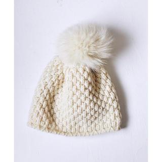L'Appartement DEUXIEME CLASSE - inverni フォックスファー ポンポンニット帽