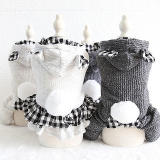 0251-1犬服ペット服冬服かわいいニットワンピース・ツナギしっぽ♫2019新品