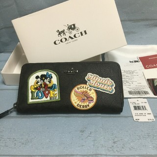 COACH - 新品 COACH コーチ レディース 長財布 F31350 ディズニーコラボ