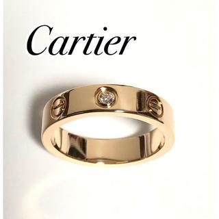 カルティエ(Cartier)のカルティエ Cartier ダイヤ K18PG ラブ リング 750(リング(指輪))