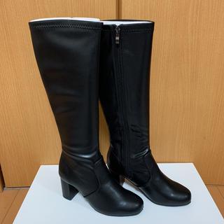 ランダ(RANDA)のブラックスムースロングブーツ(ブーツ)