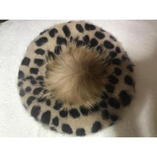dholic - 【冬物SALE】レオパード柄ベレー帽