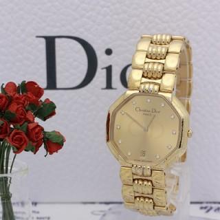 クリスチャンディオール(Christian Dior)の正規品【新品電池】Christian Dior オクタゴン ゴールド 稼働品(腕時計)