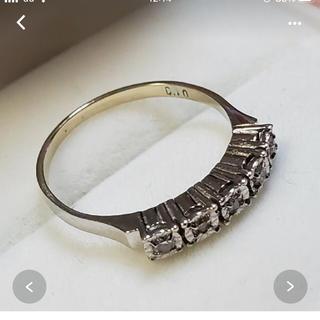 18金WGダイヤモンドリング0.10ct‼︎