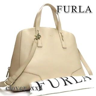 Furla - フルラ ショルダーバッグ A4 極美品 ベージュ ペルラ L FURLA バッグ