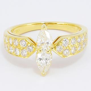 ヴァンクリーフアンドアーペル(Van Cleef & Arpels)のヴァンクリーフ&アーペル リング  指輪 マーキス ダイヤ 約13号 (リング(指輪))