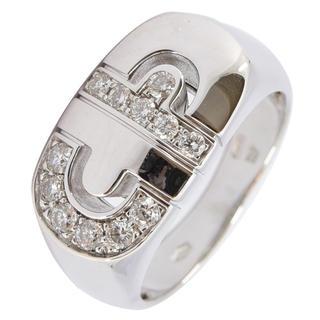 ブルガリ(BVLGARI)のブルガリ リング パレンテシ 指輪 ダイヤ K18WG 750 約15号 (リング(指輪))