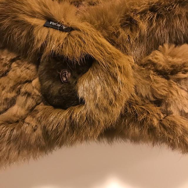 AURORA(アウロラ)のフワフワ☆リアルファーショール レディースのファッション小物(マフラー/ショール)の商品写真