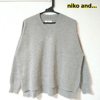 niko and... - niko and... Vネックニットセーター