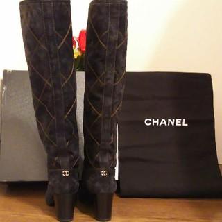シャネル(CHANEL)のシャネル ロングブーツ 美品  サイズ39  24.5~25(ブーツ)