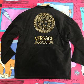 ヴェルサーチ(VERSACE)のVERSACE●ベルサーチ●レザー・ジャケット/メデューサ怪物刺繍(ブルゾン)