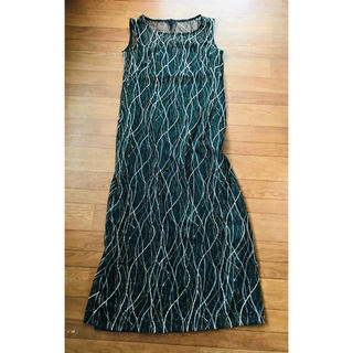 ユミカツラ(YUMI KATSURA)の美品!桂由美 ゴールド刺繍ドレス 13AR(その他ドレス)