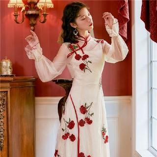 カワサキ(カワサキ)の重工業の刺繍服から改善された新しいチャイナドレス(ロングスカート)