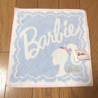 バービー(Barbie)のタグ付き 新品未使用 Barbieハンドタオル(ハンカチ)