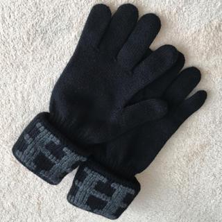 エルメス(Hermes)のエルメス 手袋 グローブ カシミア100% 黒 L(手袋)