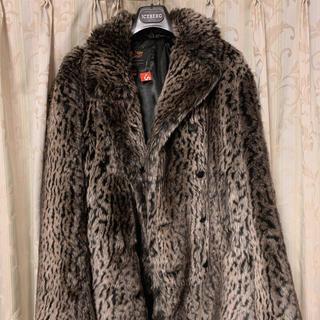 シュプリーム(Supreme)のsupreme Schott Fur Peacoat レオパード ファー (ピーコート)
