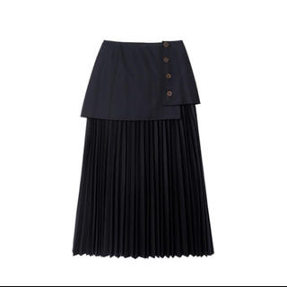 LE CIEL BLEU Layered Pleated Skirt