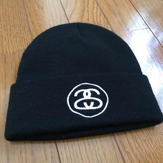 ステューシー(STUSSY)の美品!ステューシー STUSSY ニット帽 ブラック(ニット帽/ビーニー)