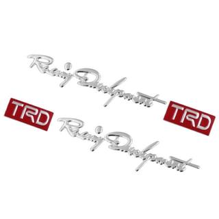 トヨタ - 最新トヨタTRDステッカー シルバー 立体筆記体タイプロゴエンブレムモデリスタ