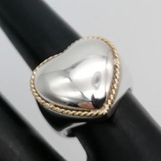 ティファニー(Tiffany & Co.)の希少 ヴィンテージ ティファニー コンビ ハート リング CQ29(リング(指輪))