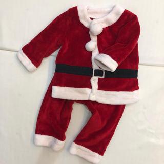 サンタクロース クリスマス フワフワ上下セットアップ 90 男の子 女の子