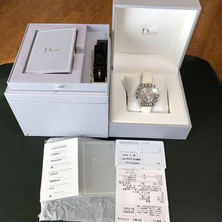クリスチャンディオール(Christian Dior)のクリスチャンディオール  クリスタル クロノグラフ  ダイヤ 腕時計(腕時計)