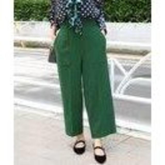 IENA(イエナ)のIENA ジョーゼットクロップドパンツ レディースのパンツ(クロップドパンツ)の商品写真