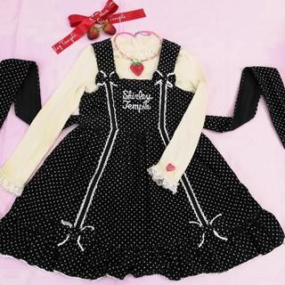 Shirley Temple - シャーリーテンプル ドットコーデュロイジャンパースカート 120cm