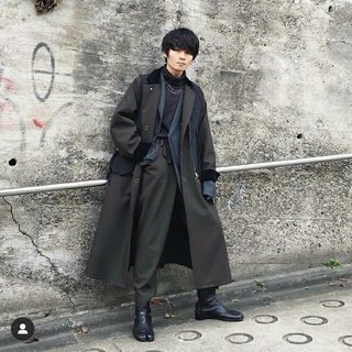 SUNSEA - SUNSEA 18AW POLYYS WOOL COAT【ブラウン色・サイズ2】