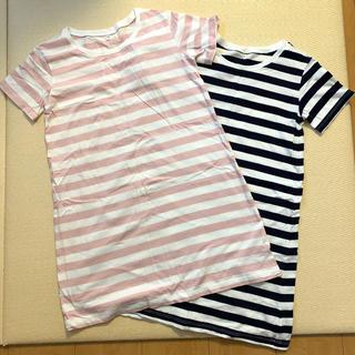 MUJI (無印良品) - ★試着のみ★無印良品 MUJI キッズ 150 ロング丈Tシャツ 2枚セット