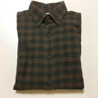 GU - チェックシャツ メンズ