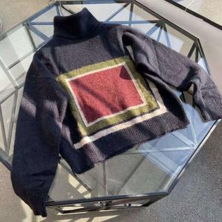 ディオール(Dior)のDIOR ニットデザインセーター 36(ニット/セーター)