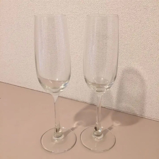 MUJI (無印良品) - シャンパングラス クリスタルガラス2脚セットで