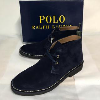 ポロラルフローレン(POLO RALPH LAUREN)の新品未使用!Polo Ralph Lauren ネイビースエードブーツ(US7)(ブーツ)