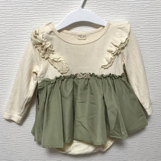 kid's zoo - 美品♡kids zoo スカート付きロンパース ワンピース♡80
