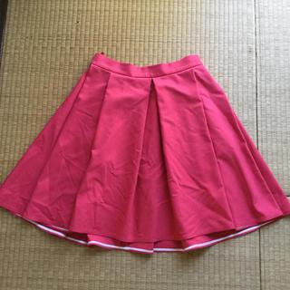 ブルーガール(Blugirl)のブルーガール ブルーマリン フレアスカート レッド 42(ひざ丈スカート)