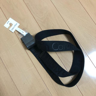 カルバンクライン(Calvin Klein)のカルバンクライン  ベルト ブラック 新品(ベルト)