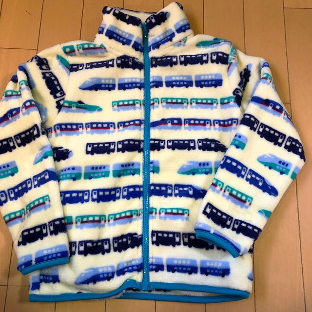 motherways(マザウェイズ)のマザウェイズ  120cm フリース 新幹線柄 キッズ/ベビー/マタニティのキッズ服男の子用(90cm~)(ジャケット/上着)の商品写真