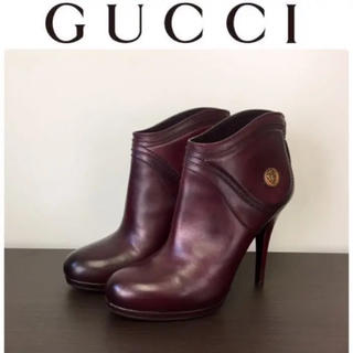 Gucci - 定価10万品☆1回のみの使用☆Gucci/グッチ☆ブーティ☆23C☆ブラウン系