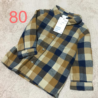 H&M - H&M * チェックシャツ 80